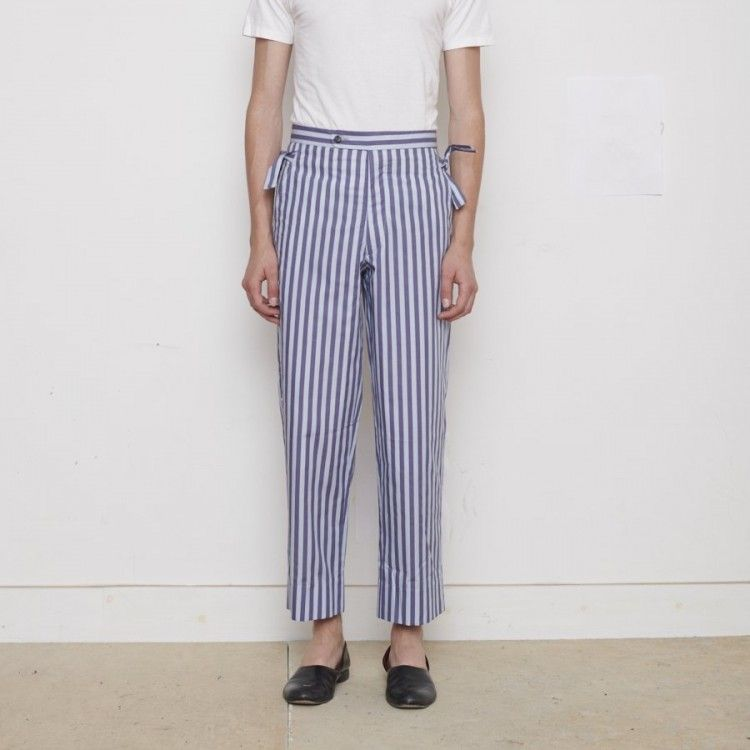 Duo-Stripe Side Tie Trousers