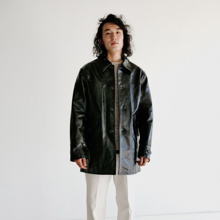 Buta Coat Black Leather