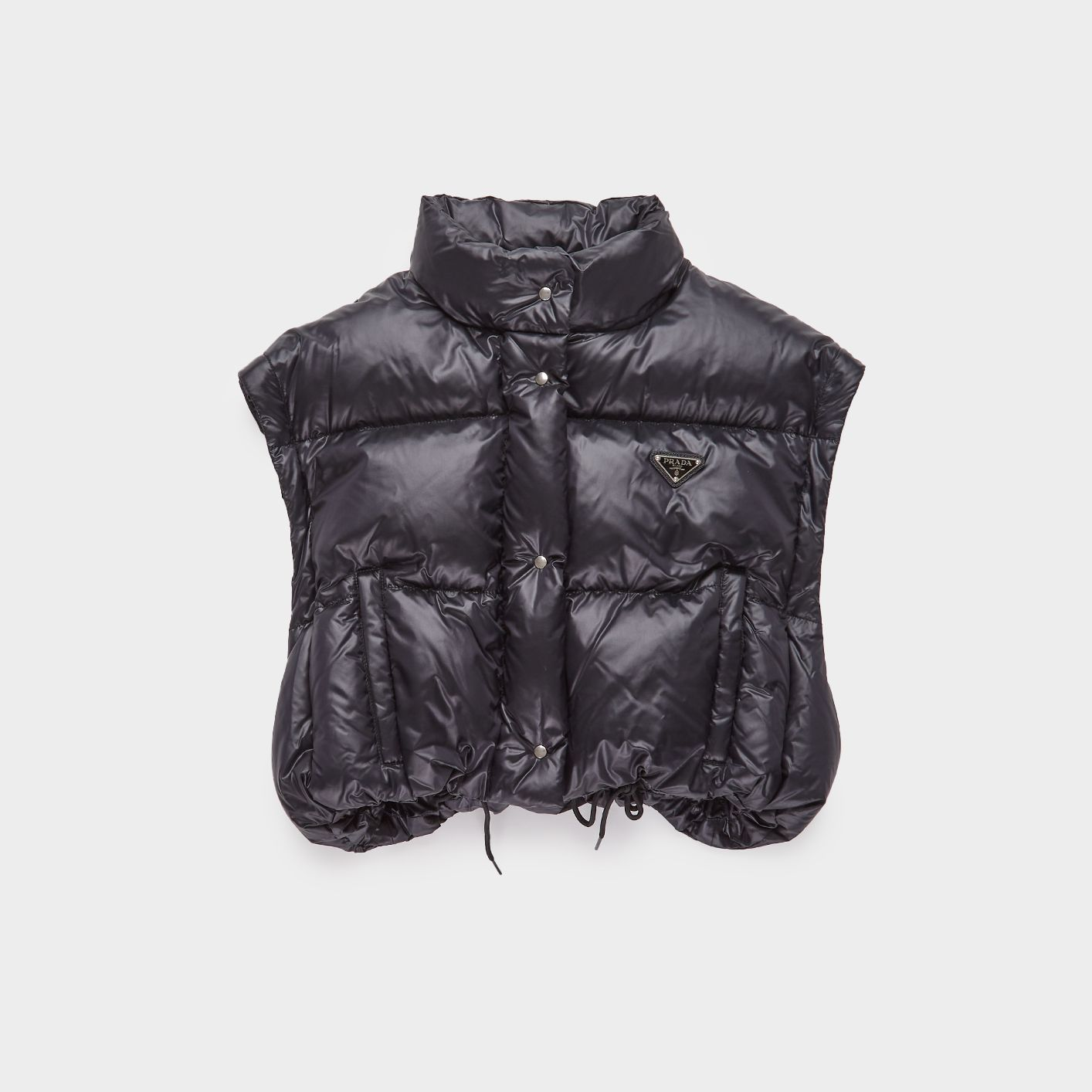 Cropped Nylon Puffer Jacket