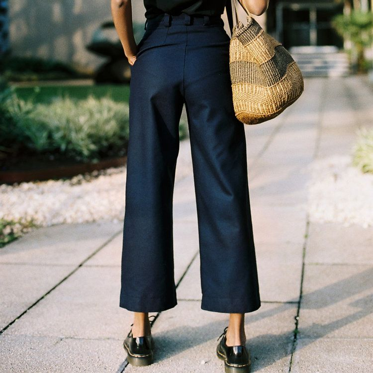 LUCIE NAVY WOOL PANTS