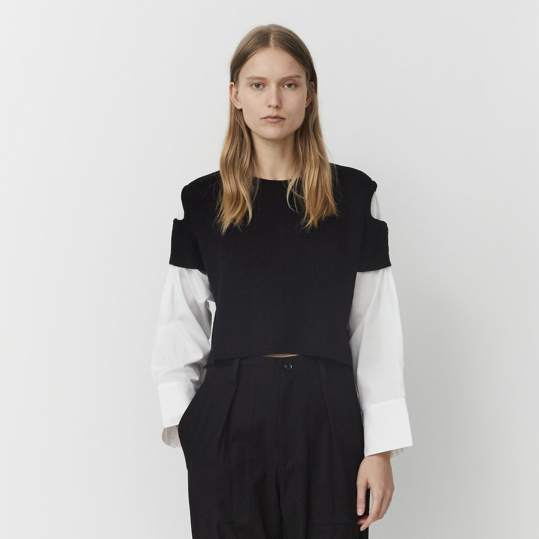 Cotton & Wool Cut-Out Sweater