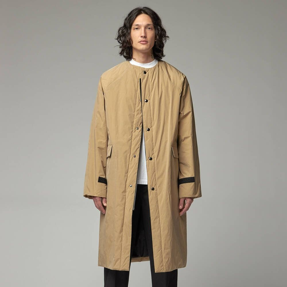 No Collar Below Tafta Original Coat