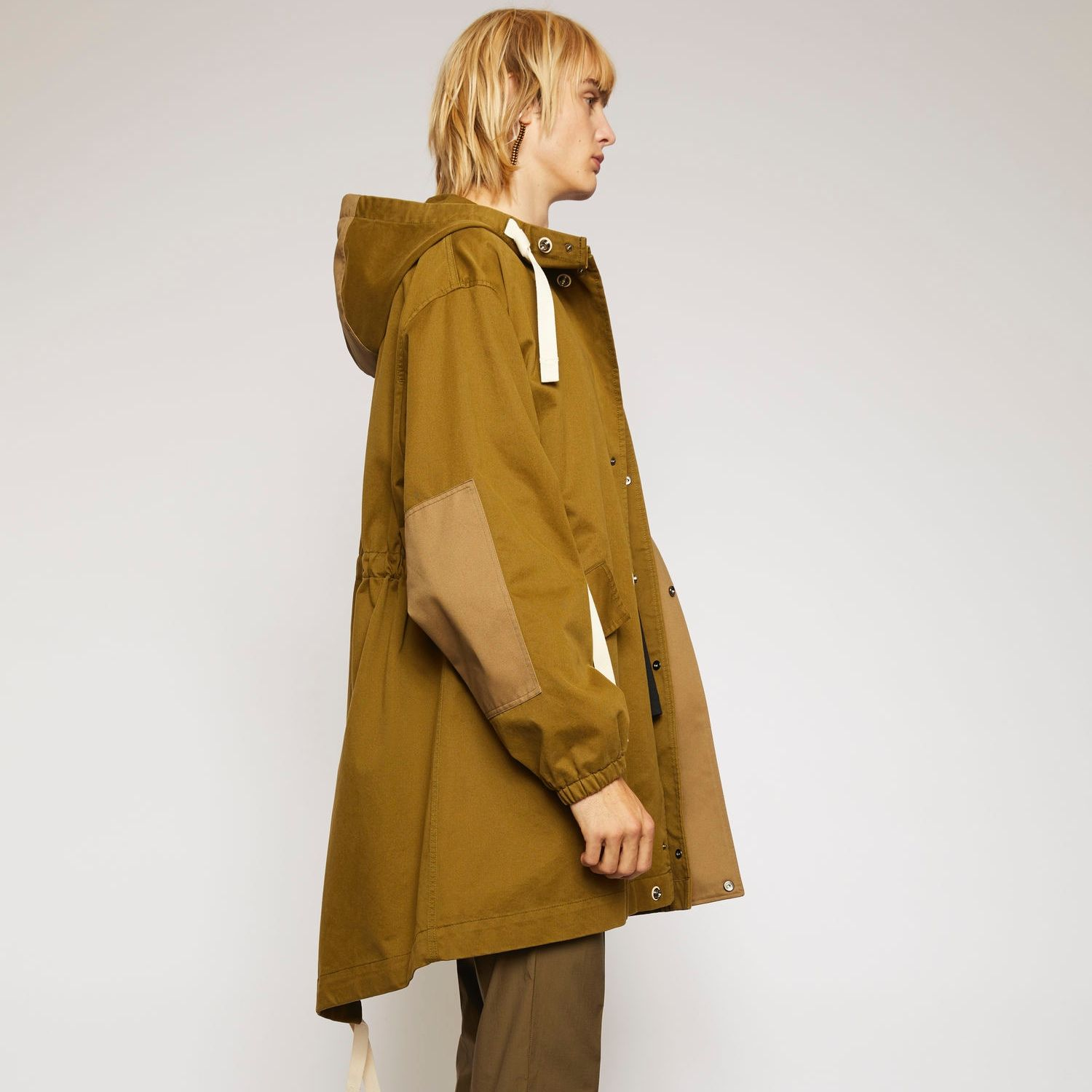 Tech-twill fishtail parka