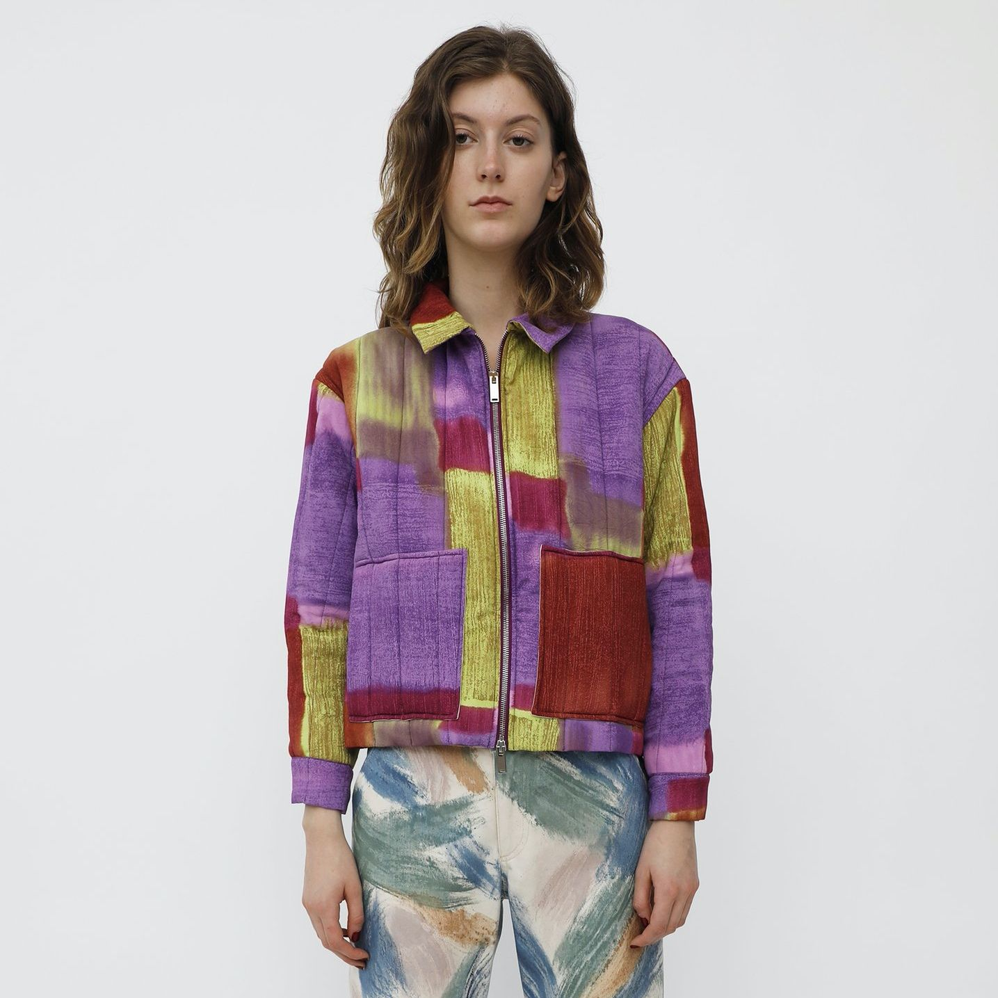 COMFORT JACKET ABSTRACT RAYON