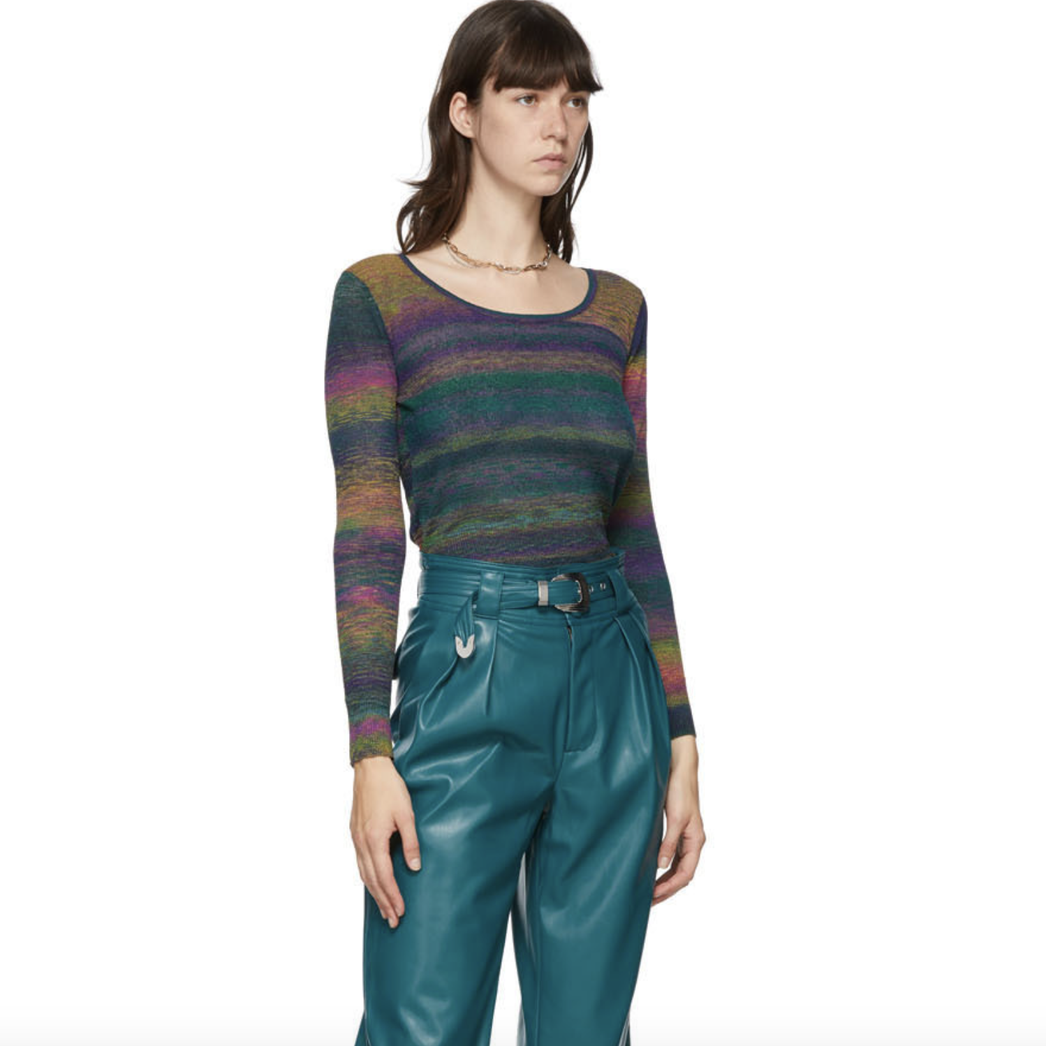 Multicolor Amo Scoop Neck Sweater