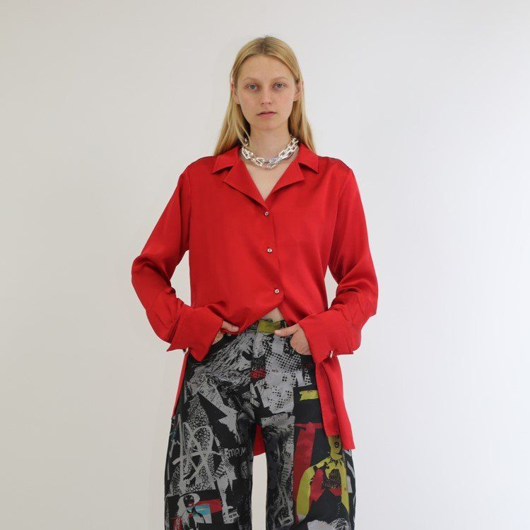 PYJAMA BLOUSE IN RED